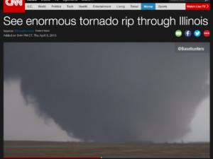 CNN Basehunters Rochelle Tornado Coverage