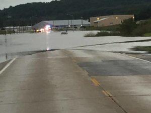 Flooding near Freeport, IA