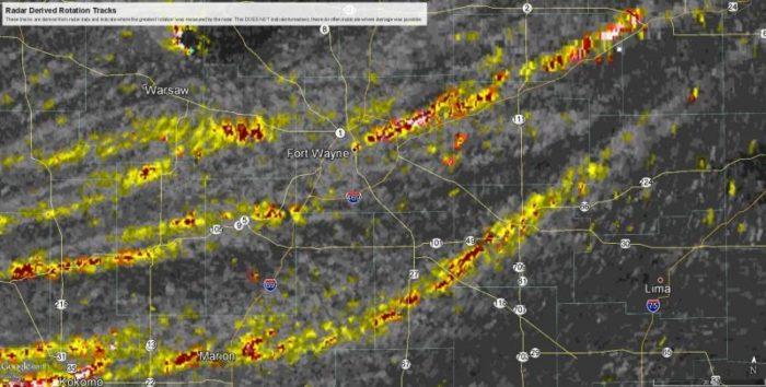 Potential Tornado Tracks