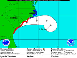 Hurricane Matthew South Carolina Landfall