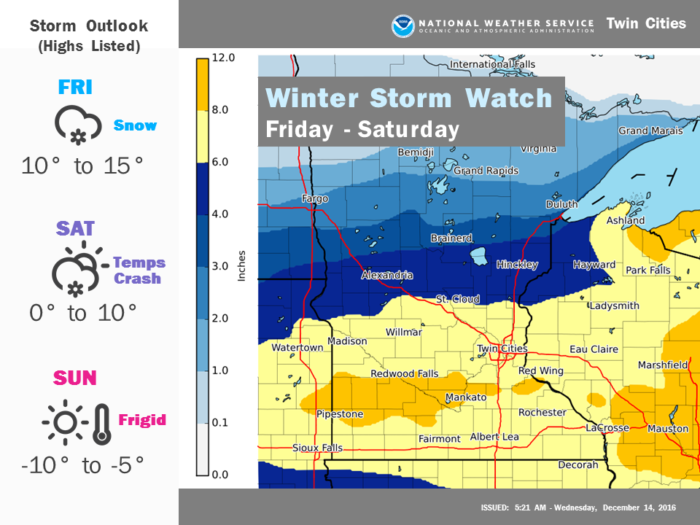 MN/WI Winter Storm via NWS