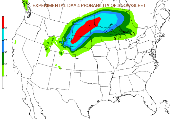 Christmas Day Snow Potential