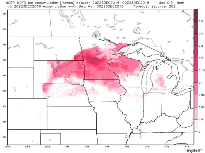 Regional Ice Forecast
