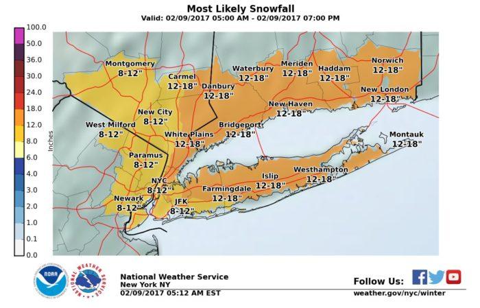 NWS NY Snow Forecast