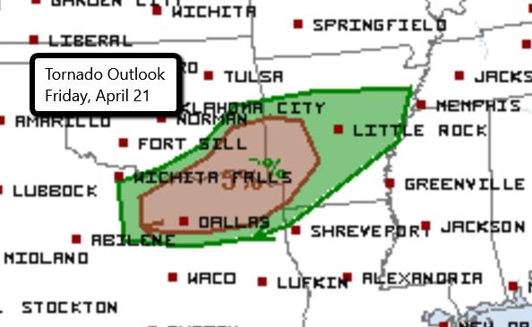 Updated Tornado Outlook
