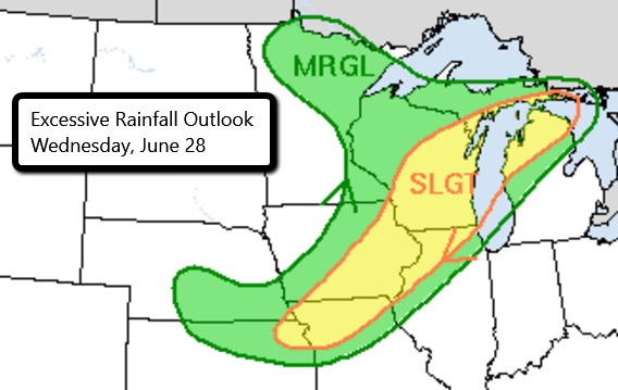 6-28 Excessive Rainfall Outlook