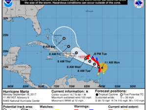 9-18 Maria Track Forecast
