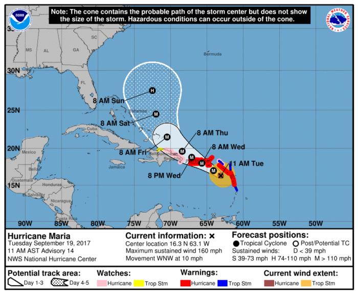 9-18 11AM Track Forecast