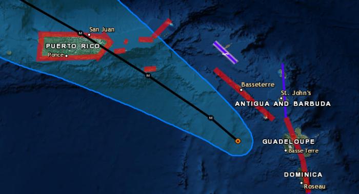 9-19 Maria Close Up Track Forecast