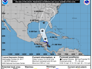 10-4 Tropical Depression 16