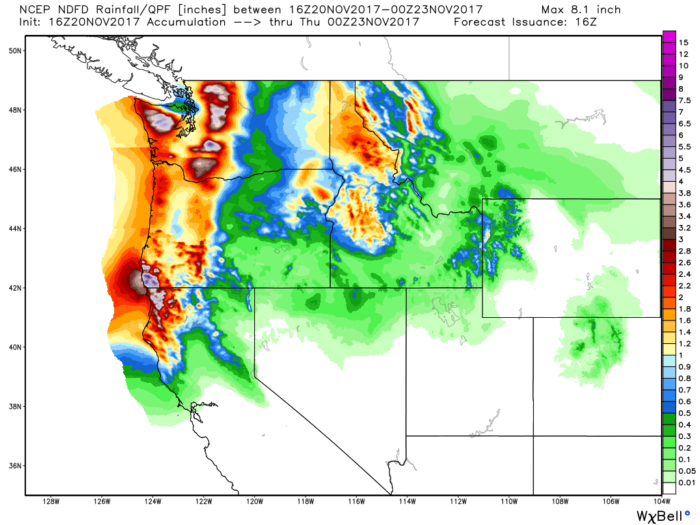 11-20 Pacific NW Rain Forecast