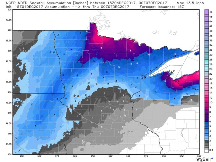 12-4 MN Snow Forecast