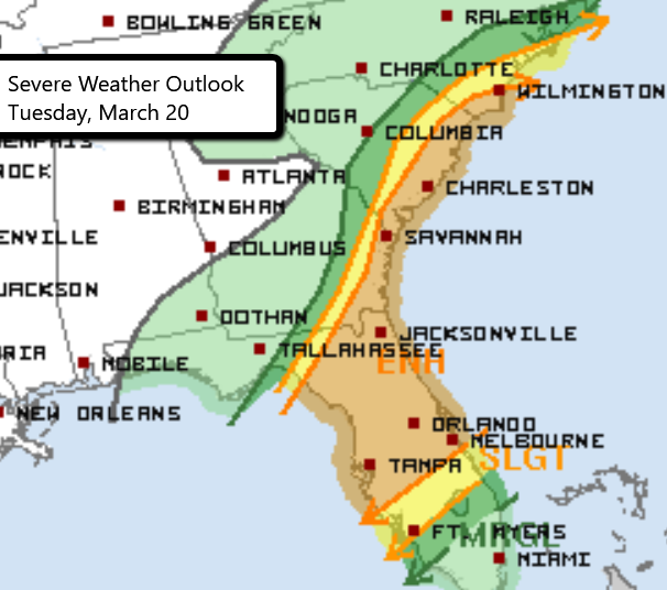 3-20 Severe Weather Outlook