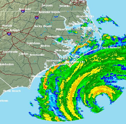 9-13 Florence on Radar