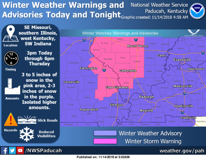11-14 Winter Storm via NWS Paducah