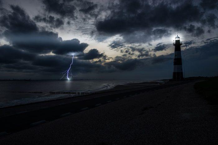 ocean storm lightning