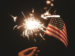 Fireworks Sparkler Flag