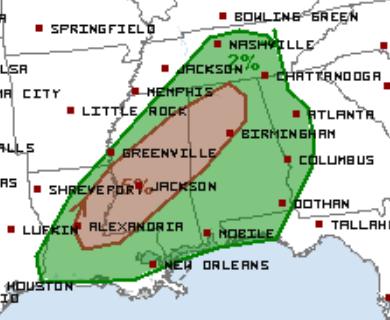 2-11 Day 2 Tornado Outlook