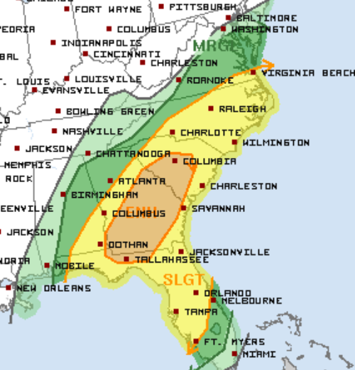 2-5 Day 2 Severe Weather Outlook