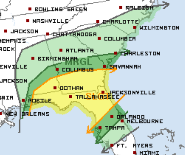 3-4 Severe Weather Outlook Tomorrow