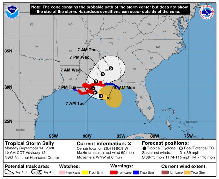 9-14 Sally Forecast Track
