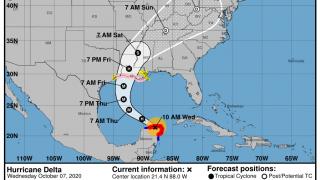 10-7 Delta Forecast Track