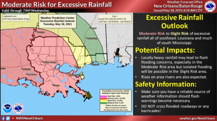 5-18 Flooding via NWS New Orleans