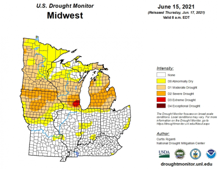 6-17 Drought Monitor Midwest