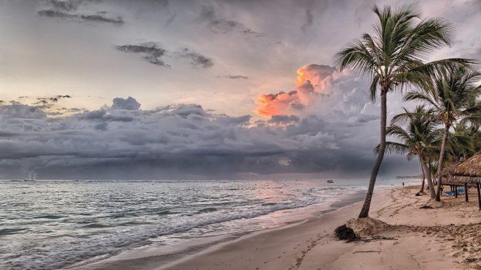 Tropical Beach Sunset Storm Hurricane