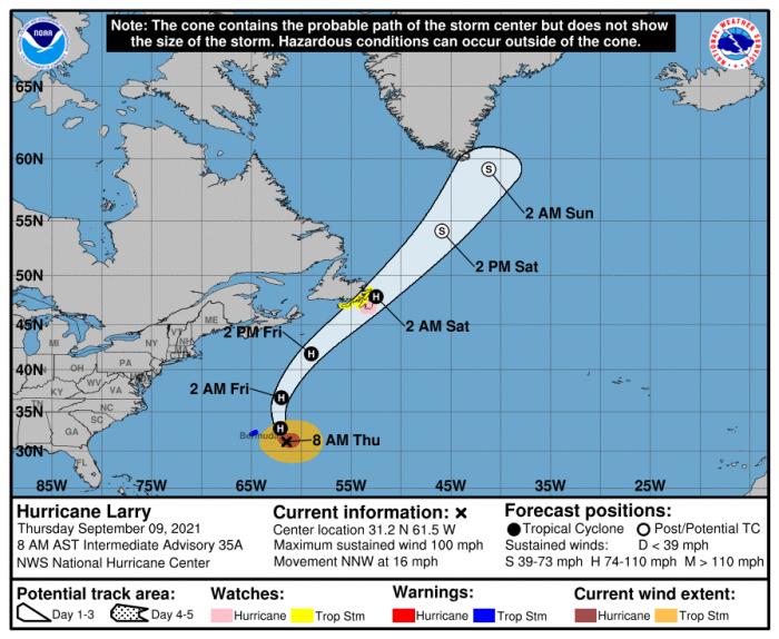 9-9-21 Larry Forecast Track